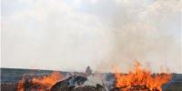秸秆堆垛起火燃烧猛烈内蒙古消防及时扑救 - 消防网
