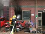 小区配电房着火 江西临川消防迅速疏散群众 - 消防网