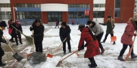 市残疾人综合服务园区积极开展扫雪活动 - 残疾人联合会