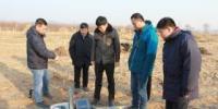 陈宇坤副局长检查指导蓟运河断裂探测项目野外施工工作 - 地震局