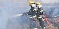 荒草起火引燃木头堆垛 内蒙古鄂尔多斯消防紧急扑救 - 消防网